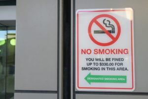 ブリスベン空港 国内線 ターミナル 喫煙所