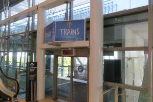 ブリスベン空港 国際線 駅 AirTrain