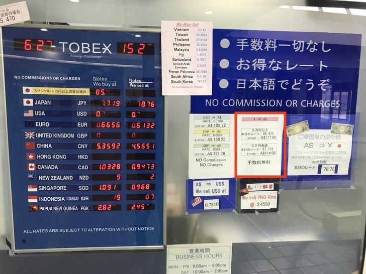 外貨両替ドルユーロ レート比較