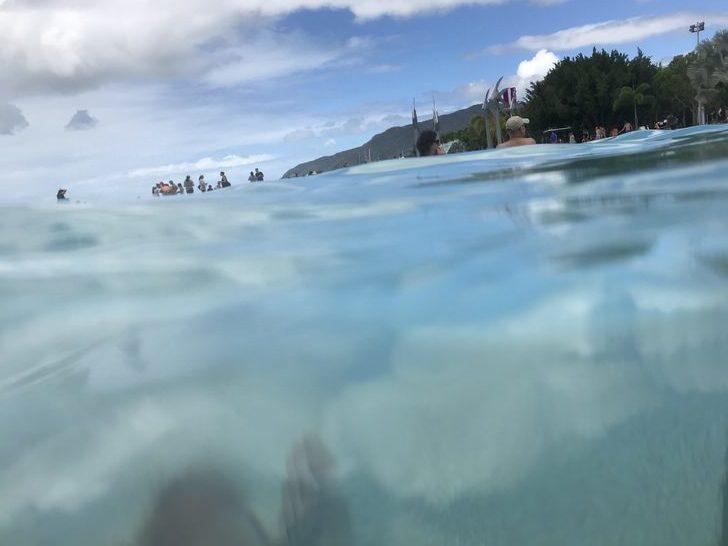 半水面 撮影