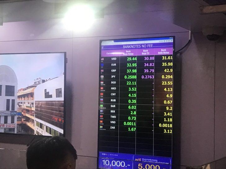 タイ 通貨 両替 スワンナプーム空港