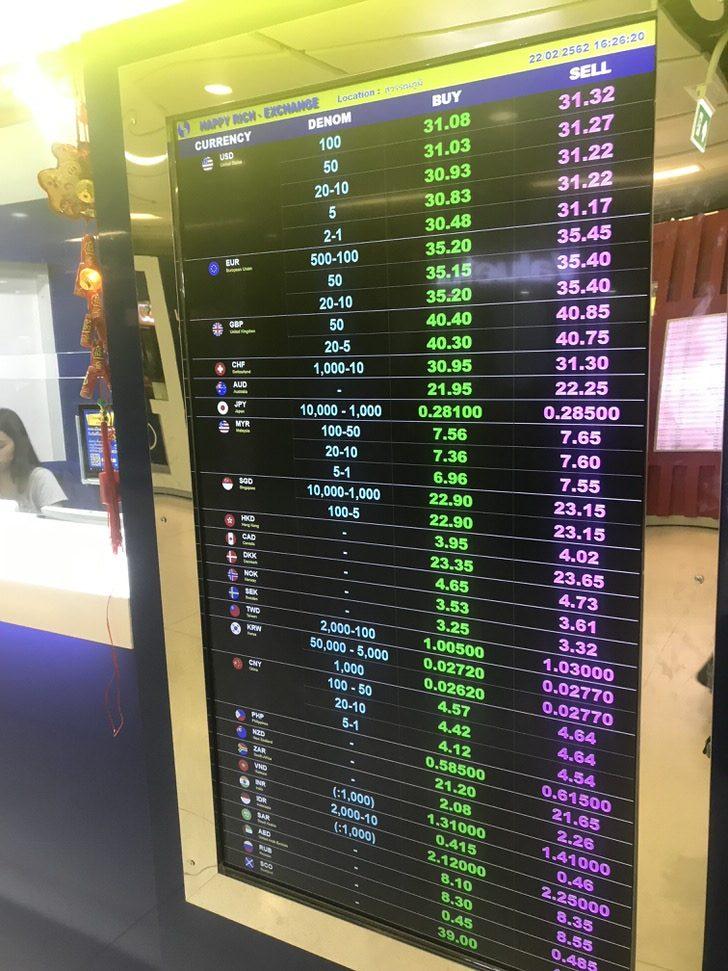 両替所②:スワンナプーム国際空港の両替所