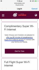 カタール航空 wifi