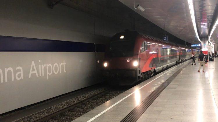 ウィーン空港から市内駅までの電車