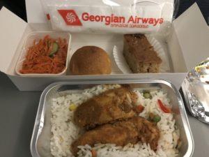ジョージア航空 機内食