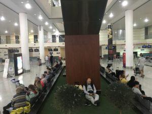 トビリシ空港 仮眠スペース